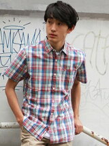 (M)ショートスリーブチェックシャツ