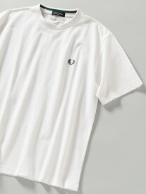 SHIPS 【WEB限定/SHIPS別注】FRED PERRY: SOLOTEX(R) 鹿の子 ワンポイント ロゴ Tシャツ シップス カットソー Tシャツ ホワイト ブラック ブルー ネイビー【送料無料】