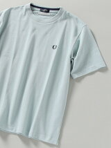 【WEB限定/SHIPS別注】FRED PERRY: SOLOTEX(R) 鹿の子 ワンポイント ロゴ Tシャツ
