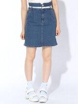 (L)クリアベルト付コクーンスカート