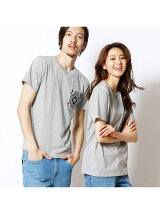 ネイティブ柄ポケット半袖Tシャツ