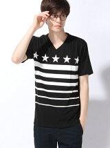 (M)スターボーダープリントTシャツ