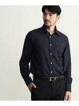 カラミ織りレギュラーカラーシャツ