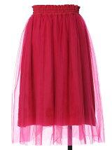 【秋の新作】刺繍チュールフレアスカート
