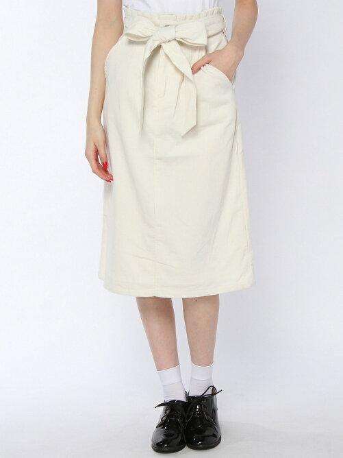 ミモレ丈コーデュロイタイトスカート