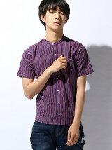 (M)ZIP FIVE ブロードバンドカラー半袖シャツ
