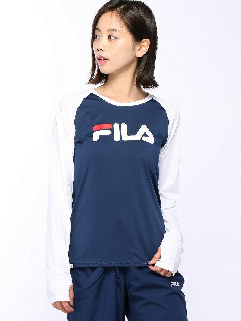 【SALE/50%OFF】FILA (W)マイクロスムース ロングTシャツ フィラ カットソー【RBA_S】【RBA_E】