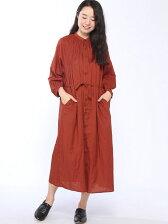 (W)ロングシャツワンピース