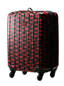 SPIRALGIRL (W)SPIRAL GIRL/スーツケース36L拡張機能付トラベルバッグ エルアイ バッグ キャリーバッグ ホワイト ブラック レッド【送料無料】