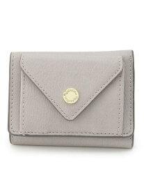 pink adobe ロゴ刻印カシメメール型三つ折り財布 ピンクアドベ 財布/小物