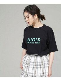 【SALE/50%OFF】AIGLE 別注ロゴTシャツ ナノユニバース カットソー Tシャツ ブラック ホワイト