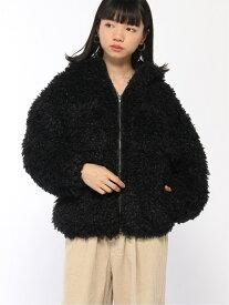 X-girl CURLY FUR COAT エックスガール コート/ジャケット コート/ジャケットその他 ブラック グリーン ホワイト【送料無料】