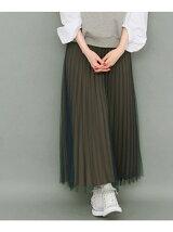 チュールonプリーツスカート