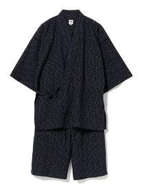 BEAMS JAPAN RENOWN × BEAMS JAPAN / 別注 久留米 甚平 ビームス ジャパン ビームス ジャパン ビジネス/フォーマル 着物/浴衣 ネイビー【送料無料】