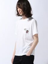 (M)NAVAL Select/ドクロワッペンポケット付きクルー半袖
