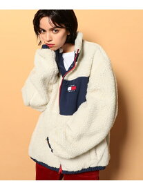 【SALE/40%OFF】TOMMY JEANS (U)TOMMY HILFIGER(トミーヒルフィガー) リバーシブルシェルパジャケット トミーヒルフィガー コート/ジャケット コート/ジャケットその他 ネイビー ホワイト レッド【送料無料】