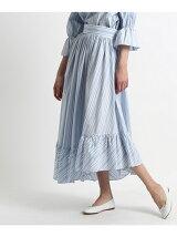 ペプラムストライプスカート