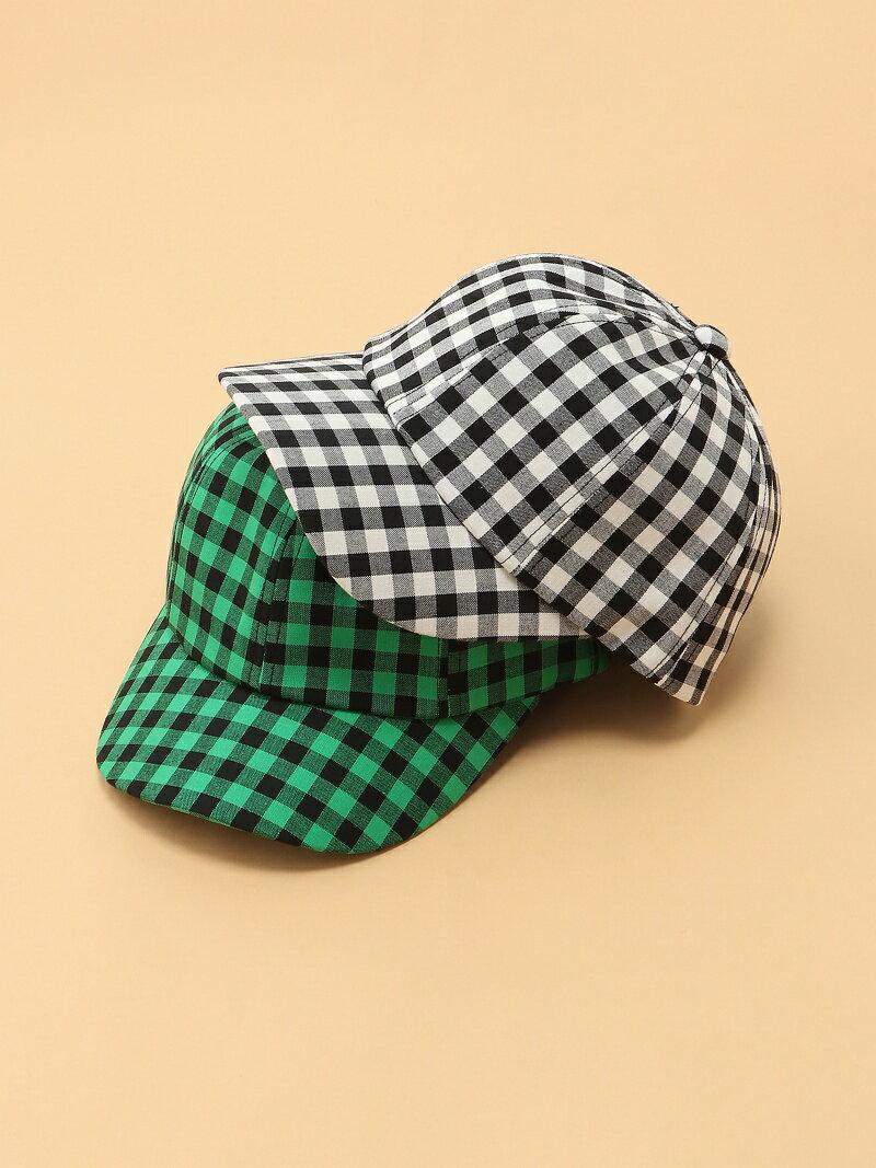 Ray BEAMS / ギンガム チェック キャップ 帽子 ビームス ウイメン