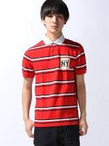 (M)マルチストライプポロシャツ
