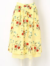 BETTY S FLOWER FLARE LONG SK