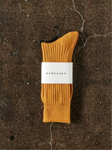 HARUSAKU  Men's  PLAIN RIB SOCKS