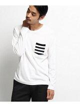 【ユニセックス】ポケットボーダー ロングスリーブTシャツ