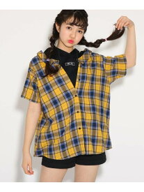 PINK-latte ★ニコラ掲載★シャツレイヤード5分袖 トップス ピンク ラテ シャツ/ブラウス