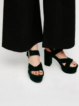 VELOR CROSS SANDALS