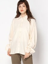 (W)Drapy Viscose LS Trench Shirt