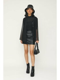 【SALE/30%OFF】SLY SKIN LEATHER MINI スカート スライ スカート ミニスカート ブラック ホワイト【送料無料】