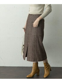 ROSSO モールツイードタイトスカート アーバンリサーチロッソ スカート スカートその他 ブラウン ネイビー ホワイト【送料無料】