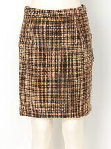 【W】ツイードタイトスカート