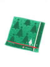 クリスマスツリー柄ミニタオル