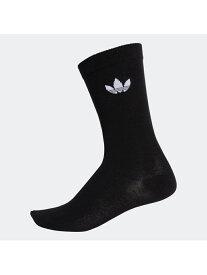 【SALE/70%OFF】adidas Originals THIN TREFOIL CREW SOCKS アディダス ファッショングッズ ソックス/靴下 ブラック ホワイト