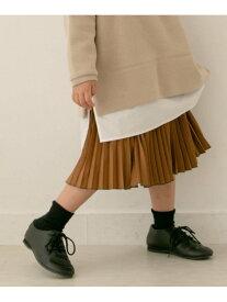 【SALE/20%OFF】DOORS 【WEB/一部店舗限定サイズ】プリーツスカート(KIDS) アーバンリサーチドアーズ パンツ/ジーンズ キッズパンツ ブラウン グリーン