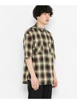 オンブレチェックシャツ(半袖)