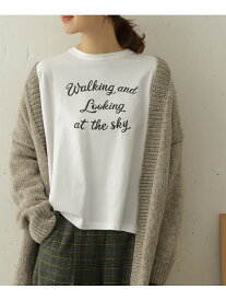 DOORS LOOKING AT THE SKY T-SHIRTS アーバンリサーチドアーズ カットソー Tシャツ ホワイト グレー【送料無料】