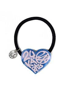24karats 24KARATS/(U)Heart Hair Tie バーチカルガレージ 帽子/ヘア小物 ヘアゴム ブルー レッド