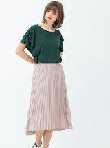 シフォンヘムラインプリーツスカート