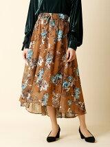 《INED》フラワーシースルースカート