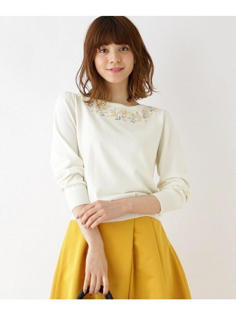【SALE/71%OFF】Couture brooch 【WEB限定サイズ(S・LL)あり】ボタニカルフラワーニット クチュールブローチ ニット【RBA_S】【RBA_E】