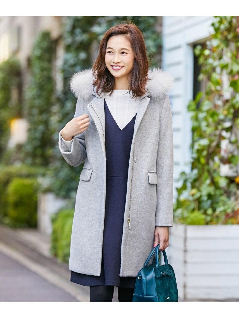 any SiS カシウールモッサ フーデットコート エニィスィス コート/ジャケット【送料無料】