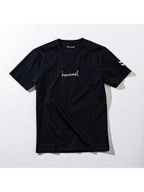 hummel hummel/ロゴTシャツ シフォン カットソー Tシャツ ブラック ネイビー ホワイト【送料無料】