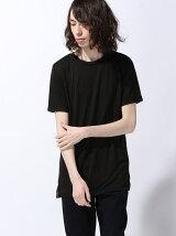 (M)NAVAL Select/TR素材ロング丈ロールアップ半袖T