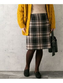 ROSSO チェックリバー台形スカート アーバンリサーチロッソ スカート スカートその他 ブラック ネイビー グレー【送料無料】