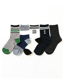devirock 5Pソックス デビロック ファッショングッズ ソックス/靴下