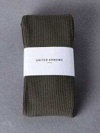 UNITED ARROWS UWSCリブサイドスリットレギンス ユナイテッドアローズ ファッショングッズ タイツ/レギンス グレー ブラック