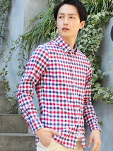 (M)マルチギンガムチェックシャツ