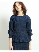 maturely / 6oz Denim Shearing Blouse