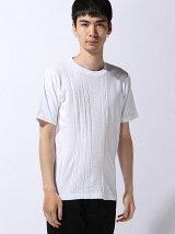 ケーブル編み切り替えニットTシャツ